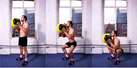 Med-ball-squats