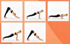 yoga push ups