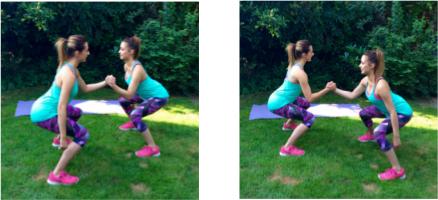partner cardio squat