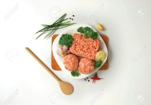 aw minced meat and meatballs on plate
