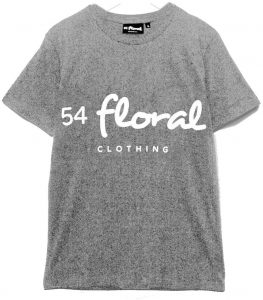 54 Floral Core T-Shirt Grey