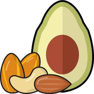 avocado-nuts fat facts
