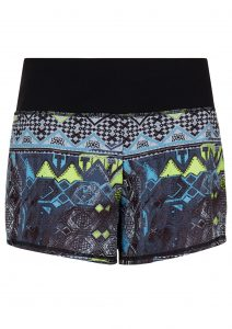 Sweaty Betty Time Trial Shorts Derelict Print/ Black