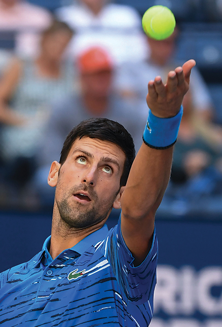 Novak Djokovic tennis service serve ball