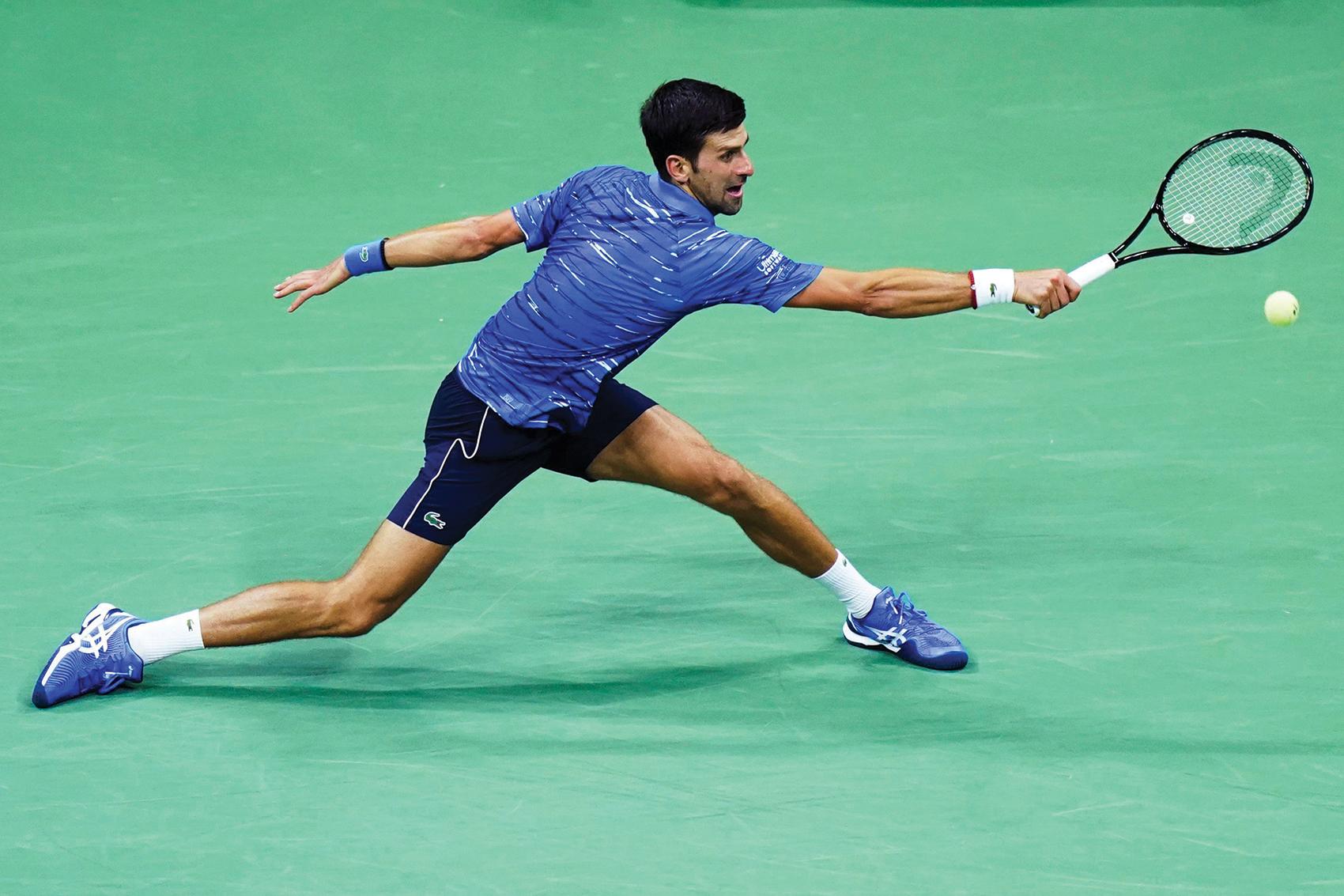 Novak Djokovic tennis ball