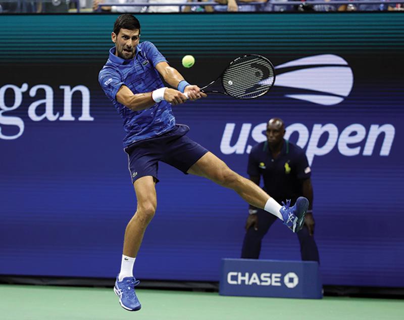 Novak Djokovic tennis ball defense