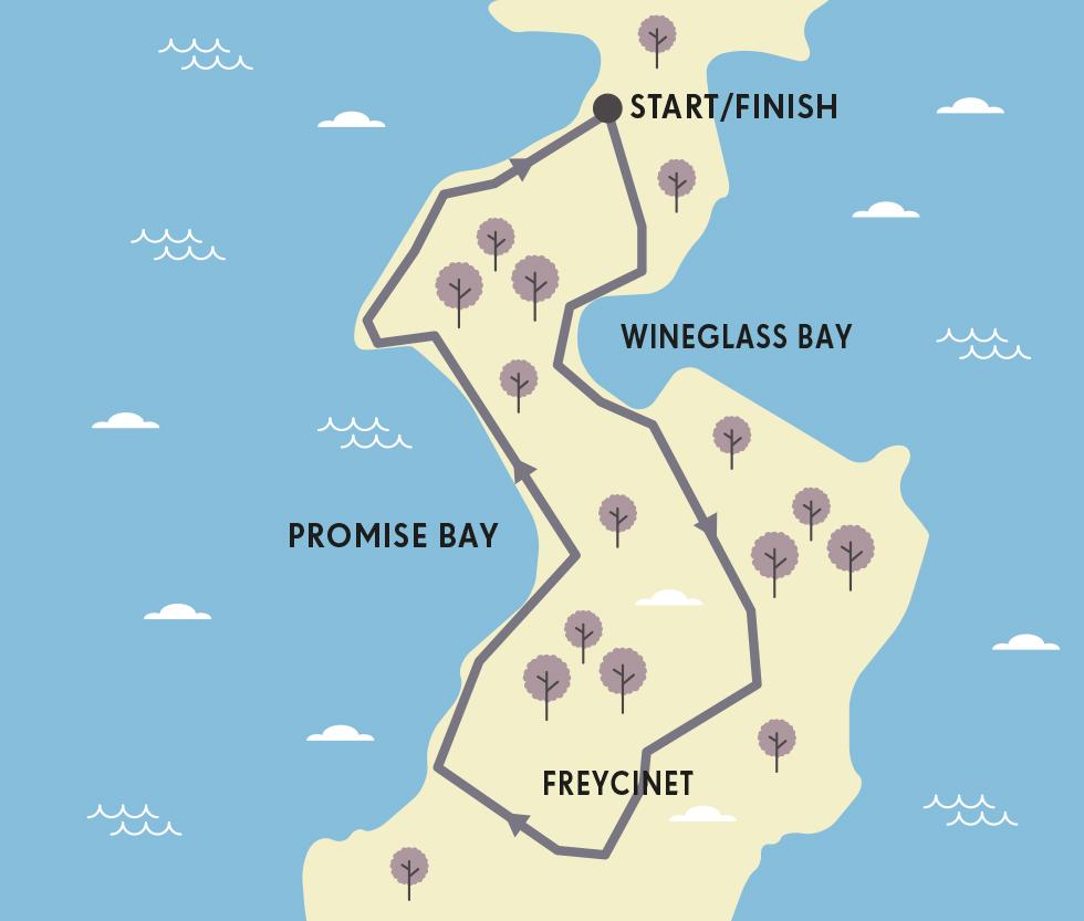 RUNNING ROUTE MAP TASMANIA