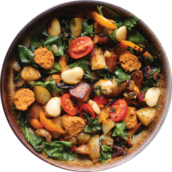vegan recipe vegan sweet potato sausage skillet