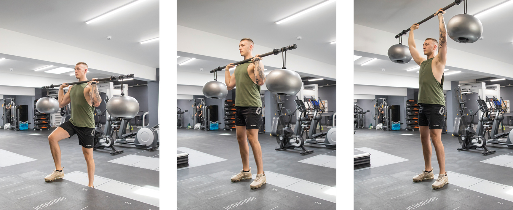 reaxing workout step up to shoulder press