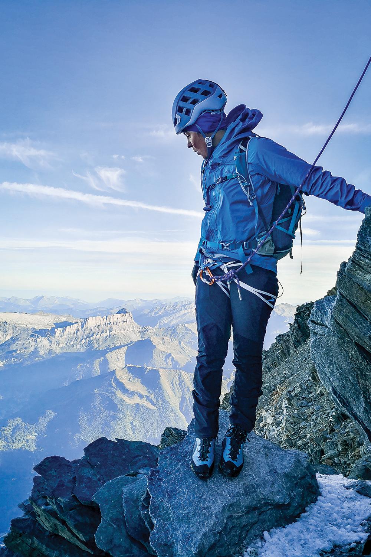 Andrea Mason mountain climbing Mount Blanc