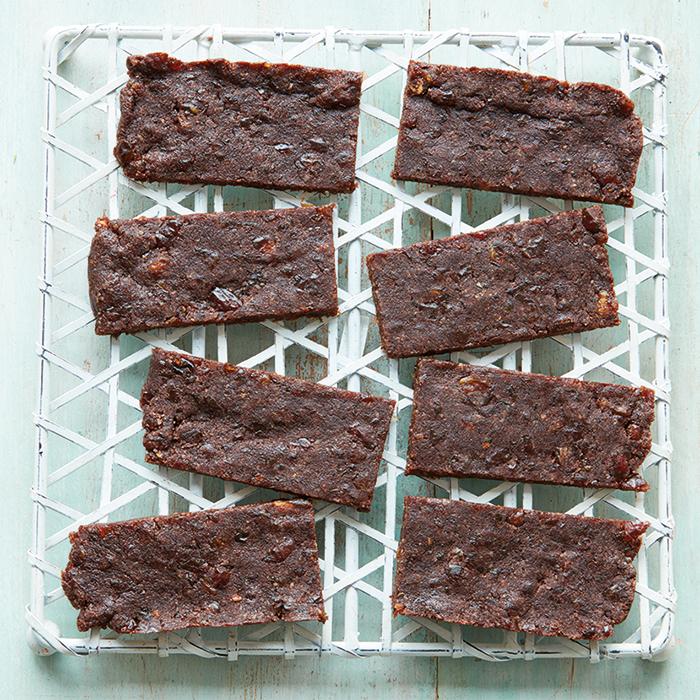 No-Bake vegan Fruit and Nut Energy Bars recipe