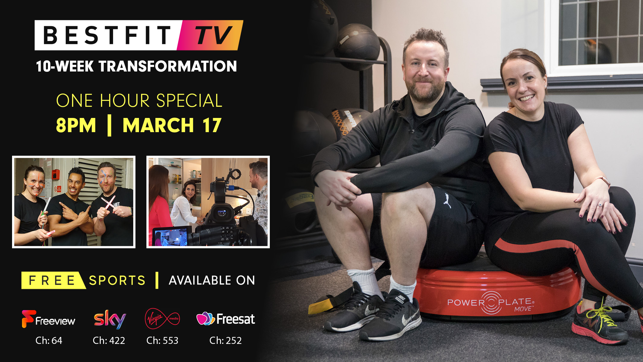 BESTFIT TV 10-week couple transformation tv show on freesports sky virgin freeview