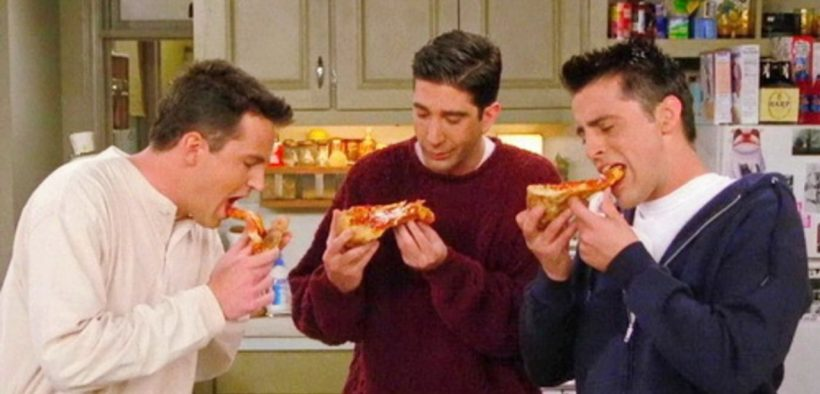 intuitive eating friends tv show eating pizza